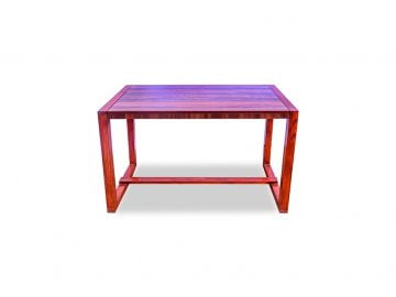 RentMacha | Woody Study Table Front View 1