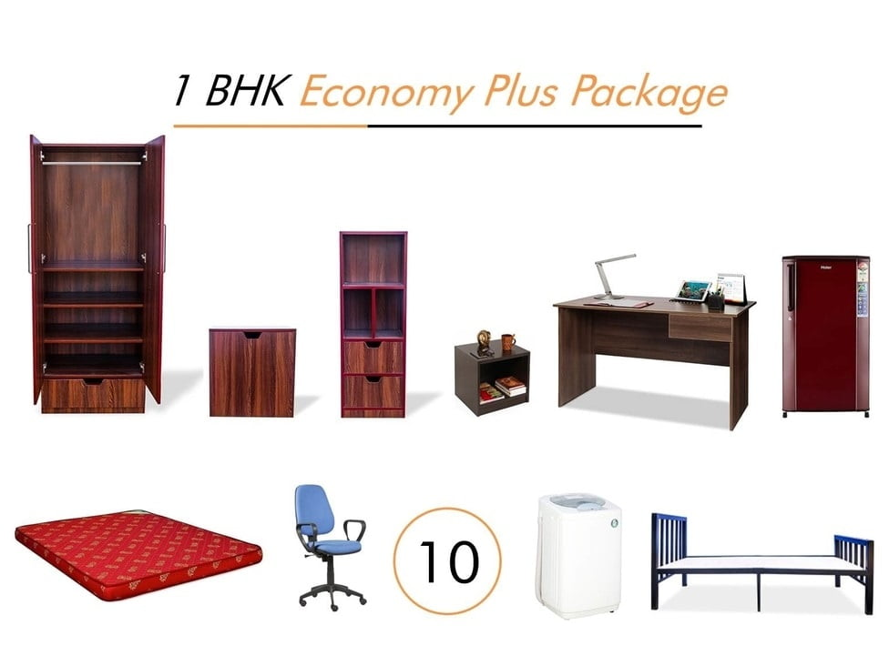 1 BHK Economy Plus Package Furniture on Rent | Main view1 BHK Economy Plus Package Furniture on Rent | Main view