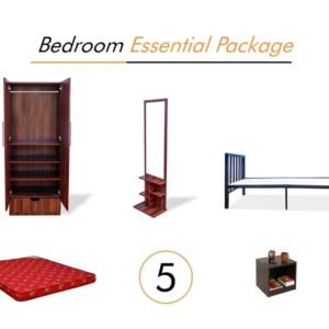 Bedroom Essential Package Furniture on Rent | Main Image