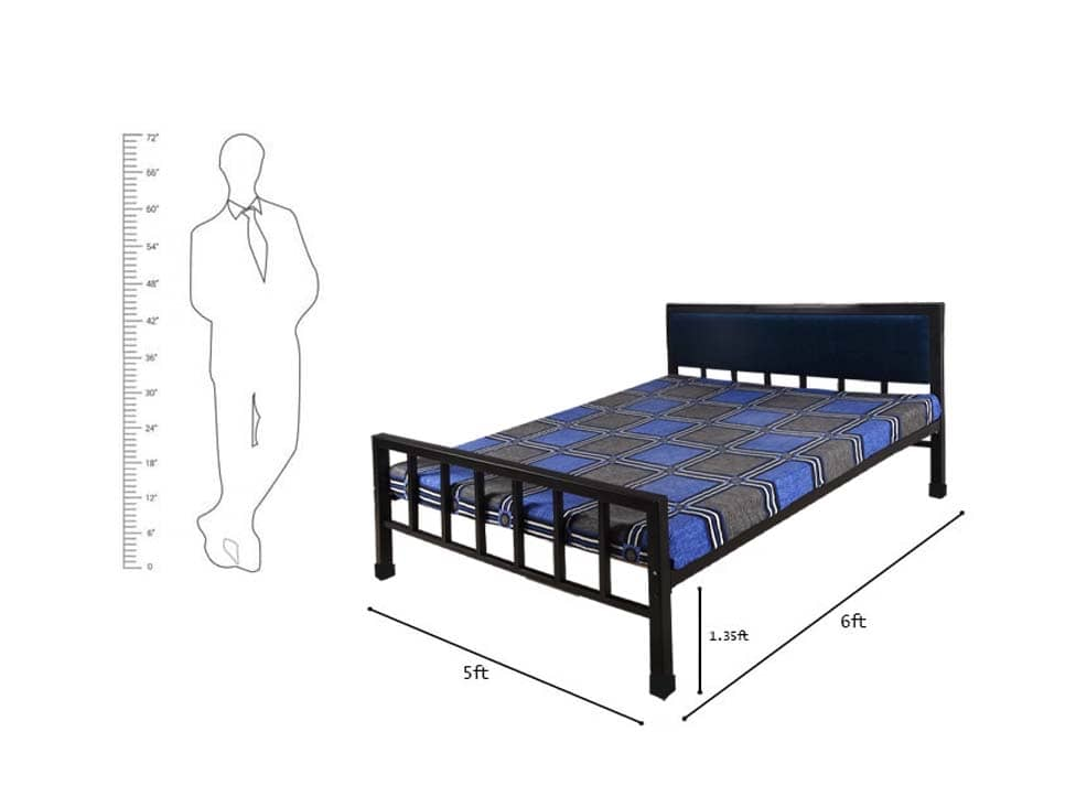 double-prime-metal-bed-on-rent-in-mumbai-chennai-hyderabad-rentmacha-dimension-image