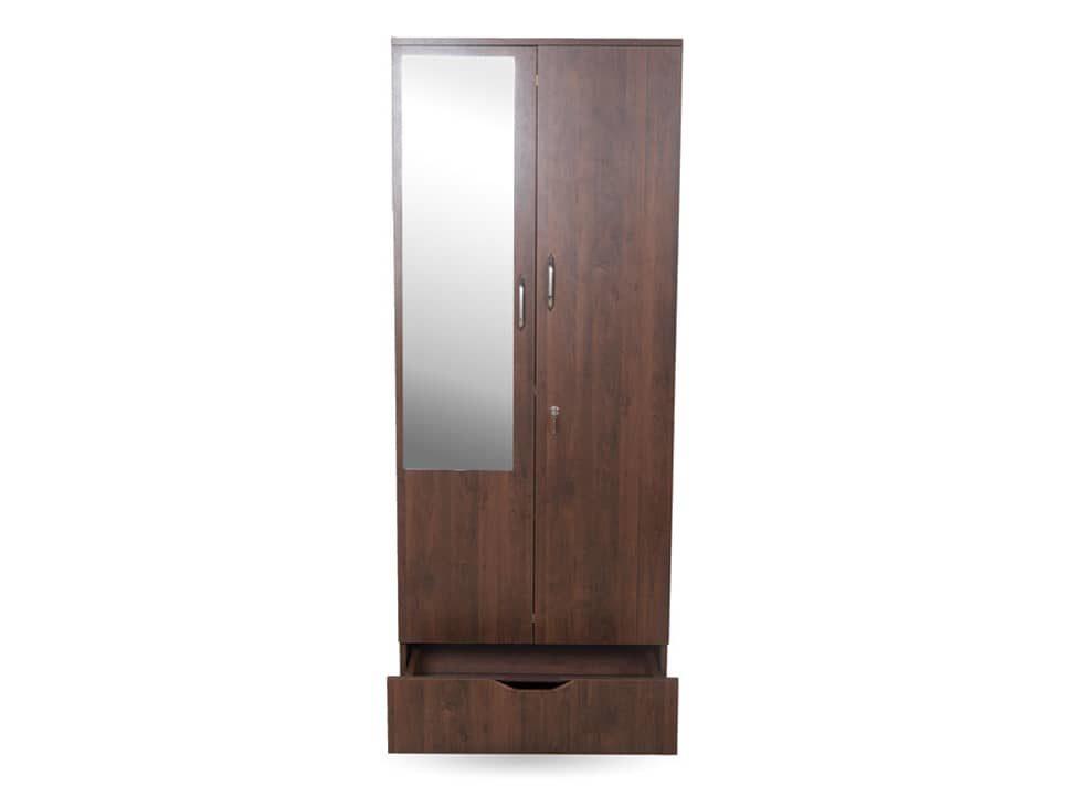 Aura 2 Door Wardrobe on Rent Prime Version- RentMacha | Front View
